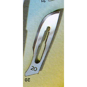 LAMES STERILES NR 20 (100X1)