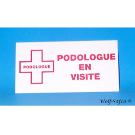 PLAQUE PODOLOGUE EN VISITE  FR