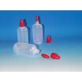 FLACON PLAST + CAPS ROND SOUPLE HD 100 (CAP38) rouge